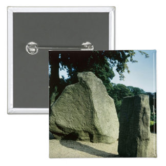 Viking rune stones button