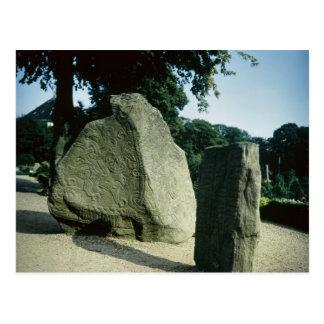 Viking rune stones post card