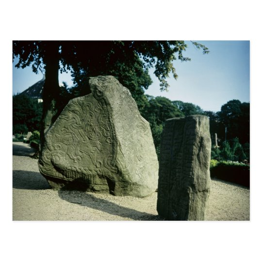 Viking rune stones postcard