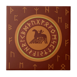 Viking Runes Ceramic Tile