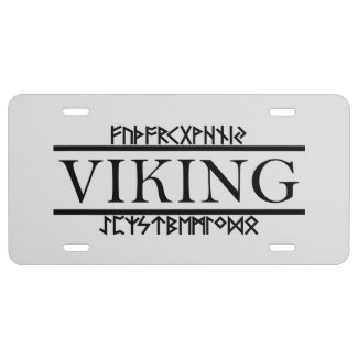 Viking Runes License Plates