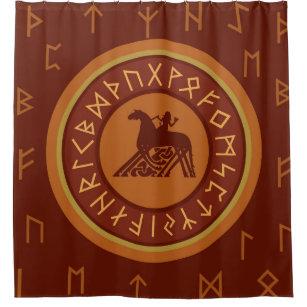 Viking Runes Shower Curtain