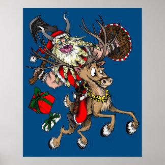 Viking Santa Poster