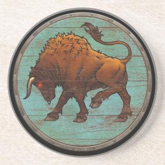 Viking Shield  - Auroch Sandstone Coaster