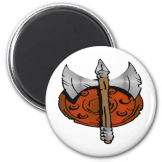 Viking Shield & Battle Ax Magnet