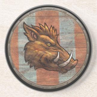 Viking Shield - Boar Drink Coaster