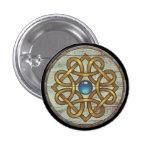 Viking Shield Button - Brooch