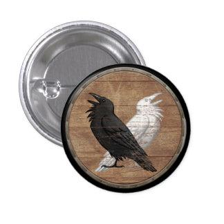 Viking Shield Button - Odin s Ravens