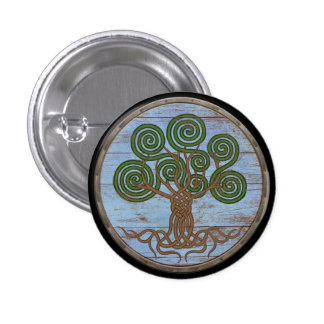 Viking Shield Button - Yggdrasil