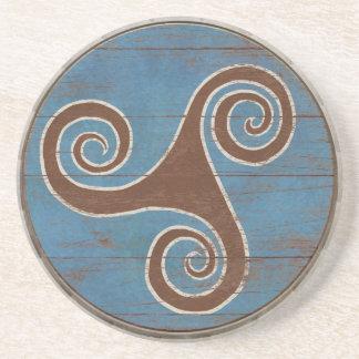Viking Shield Coaster - Triskele