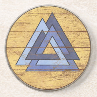 Viking Shield Coaster - Valknut