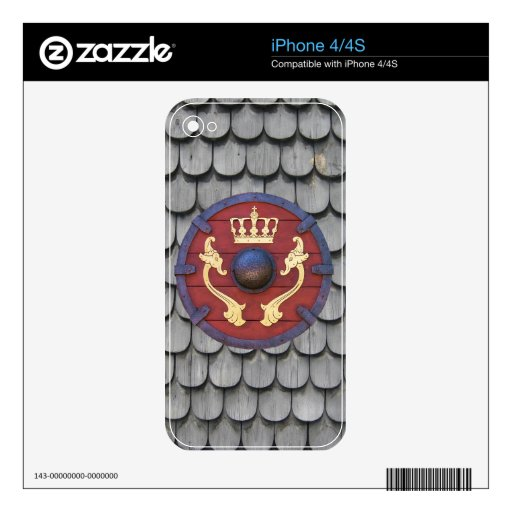 Viking Shield Decal For iPhone 4