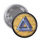 Viking Shield Emblem - Valknut Pinback Button