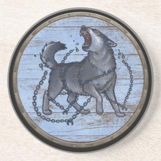 Viking Shield - Fenrir Sandstone Coaster