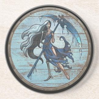 Viking Shield - Hel Beverage Coasters