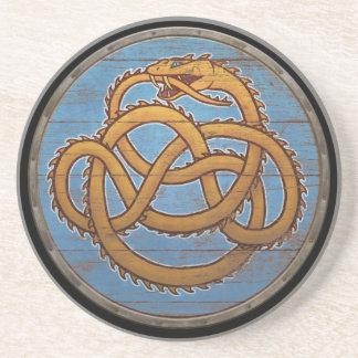 Viking Shield - Jörmungandr Sandstone Coaster