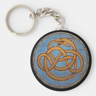Viking Shield Keychain - Jörmungandr