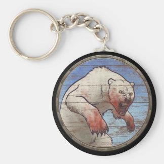 Viking Shield Keychain - Polar Bear