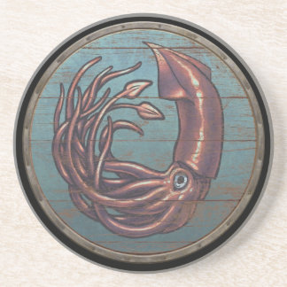 Viking Shield  - Kraken Sandstone Coaster