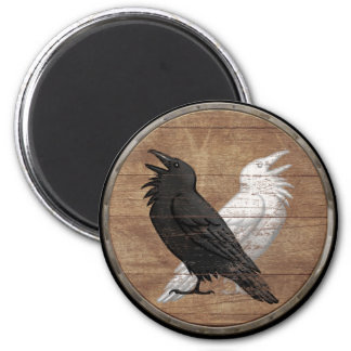 Viking Shield Magnet - Odin's Ravens