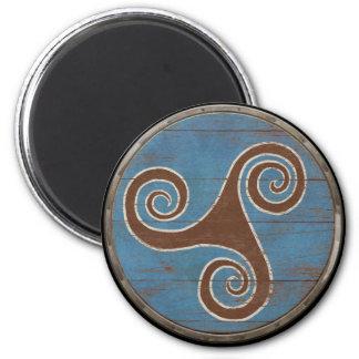 Viking Shield Magnet - Triskele