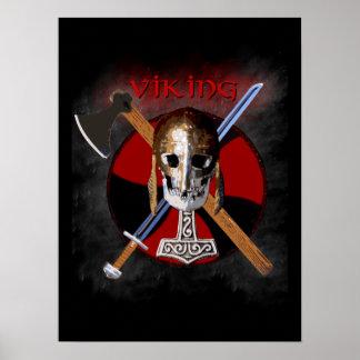 VIKING - Shield Skull Póster