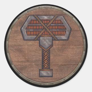 Viking Shield Sticker