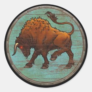 Viking Shield Sticker - Auroch