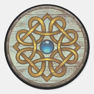 Viking Shield Sticker - Brooch
