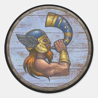 Viking Shield Sticker - Heimdallr