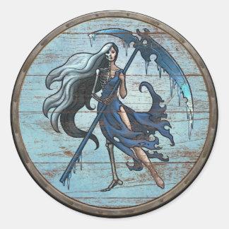 Viking Shield Sticker - Hel