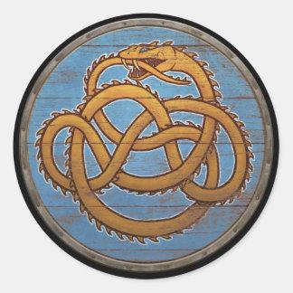 Viking Shield Sticker - Jörmungandr