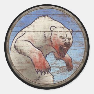 Viking Shield Sticker - Polar Bear