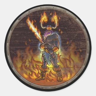 Viking Shield Sticker - Surtr