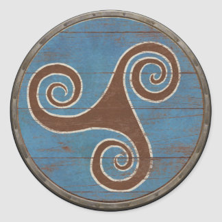 Viking Shield Sticker - Triskele