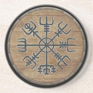 Viking Shield  - Vegvísir Coaster