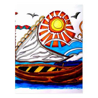 VIKING SHIP 5 POSTCARD