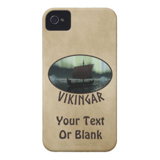 Viking Ship And Northern Lights iPhone 4 Case-Mate Case