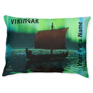Viking Ship And Northern Lights Pet Bed