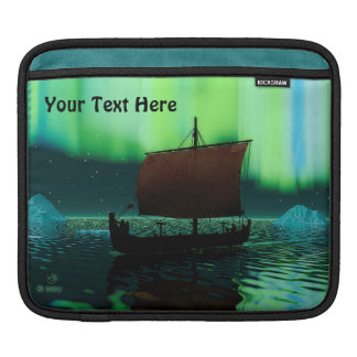 Viking Ship And Northern Lights Sleeve For iPads