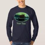 Viking Ship And Northern Lights T-shirt