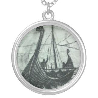 Viking Ship Artwork Necklace