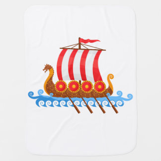 Viking Ship Baby Blanket