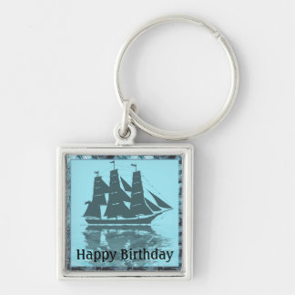 Viking Ship Birthday Keychain
