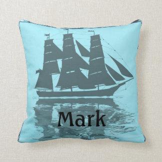 Viking Ship Birthday Throw Pillow