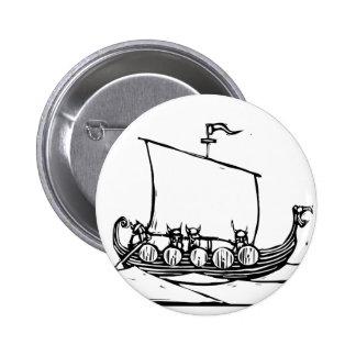 Viking Ship Pinback Buttons