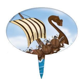 Viking Ship Cake Topper