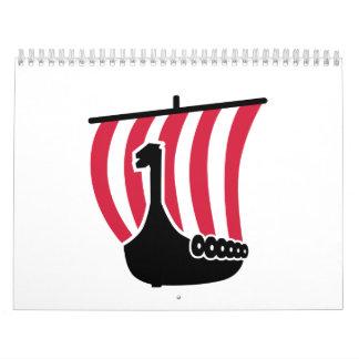 Viking ship calendar