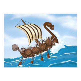 Viking Ship Card