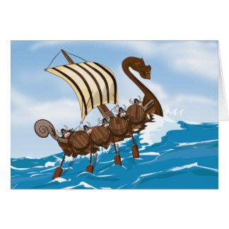 Viking Ship Stationery Note Card